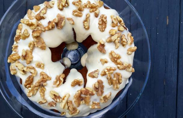 Pumpkin Spice Cake with Browned Butter Glaze