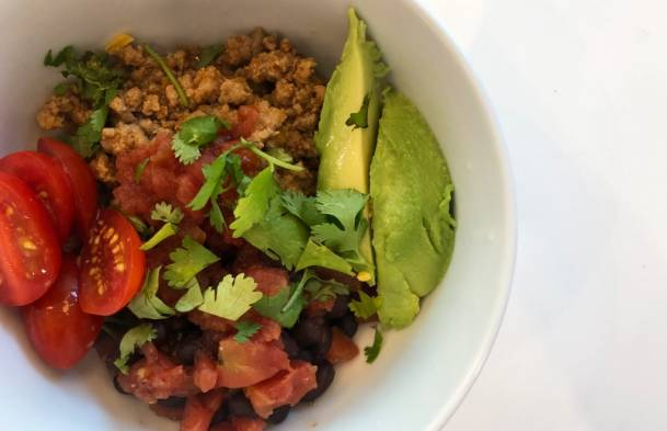 Make Ahead Meal: Turkey Taco Bowls