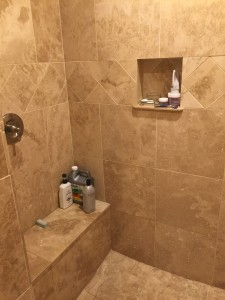 Master shower/before